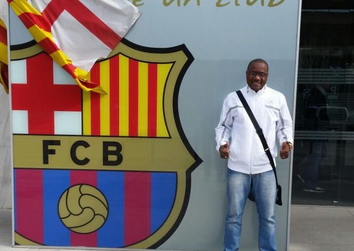 Pai do Gerson, do Fluminense, Barcelona (Foto: Arquivo Pessoal)