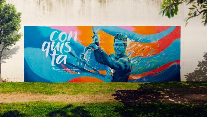 Fernando Fernandes paracanoagem grafite Rio 2016 (Foto: Divulgação)