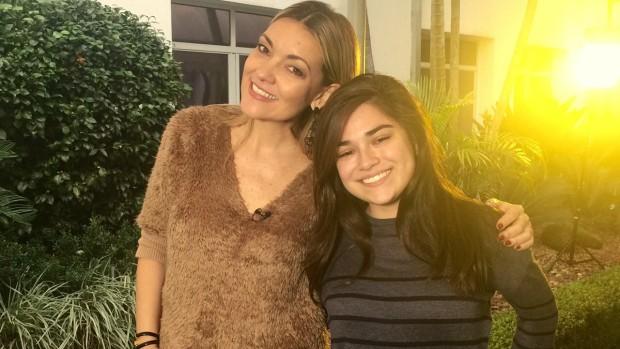 Rodaika e estudante (Foto: Reprodução/RBS TV)