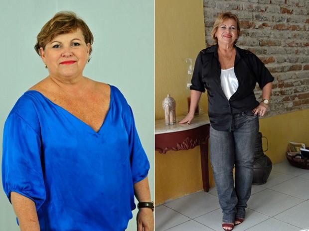"""""""Quando você fala em dieta, dá a ideia de restrição, mas não foi isso que eu fiz, fiz uma reeducação"""", diz a advogada; fotos mostram antes e depois (Foto: Arquivo pessoal/Aurenice Accioly Lins)"""