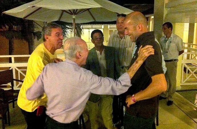 Zagallo Ronaldo e Zidane encontro sorteio Copa do Mundo (Foto: Alexandre Lozetti)