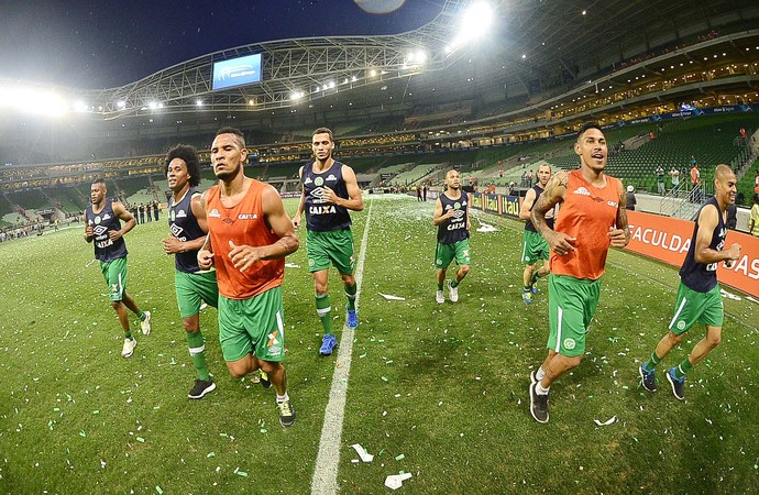Dener, Kempes, Thiego, Neto, Ananias, Josimar, Canela e Caramelo Chapecoense Arena Palmeiras (Foto: Marcos Ribolli)