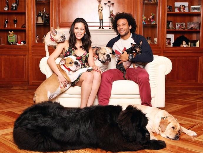 Clarice e Marcelo com os