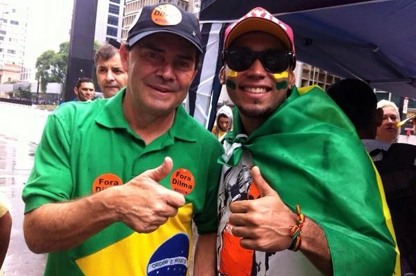 Paulinho da Força durante protestos em São Paulo (Foto: reprodução/facebook)