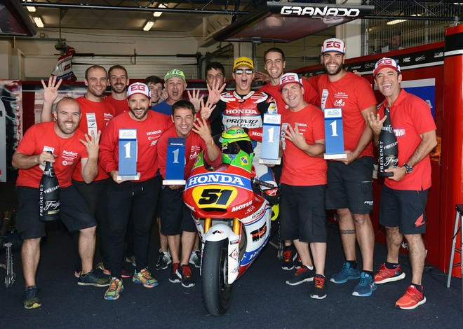 Granado lidera o Europeu de Moto2 com 25 pontos de vantagem (Foto: Divulgação)