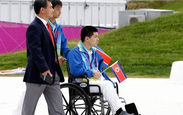 Coreano Rim Ju Song, Paralimpíadas (Foto: Agência AP)