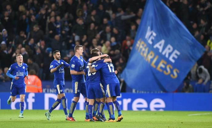 Leicester comemoração (Foto: Getty Images)