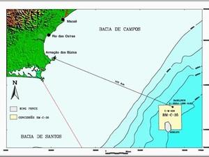 Nova descoberta da Petrobras na Bacia de Campos (Foto: Divulgação/Petrobras)