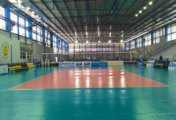 Arena Praia Arquibancada provisória Uberlândia (Foto: Lucas Papel)