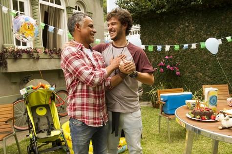 Ângelo Ântonio e Jayme Matarazzo: pai e filho em 'Sete vidas' (Foto: João Miguel Júnior/TV Globo)