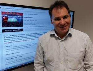 Mauro Araújo presidente do consórcio Arena das Dunas (Foto: Jocaff Souza/GloboEsporte.com)