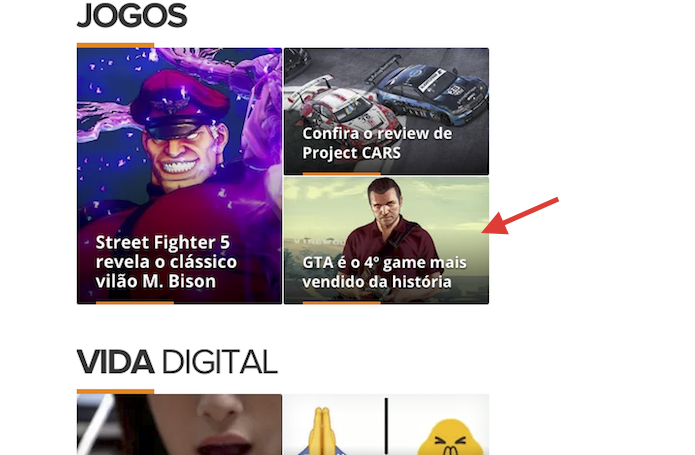 Posicionando o ponteiro do mouse sobre o ponto da página webe que deseja ampliar (Foto: Reprodução/Marvin Costa)