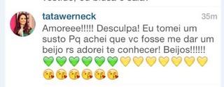 Tatá Werneck comenta postagem de Ana Paula Minerato (Foto: Reprodução/Instagram)