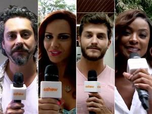 Elenco opina sobre samba enredo das suas vidas (Foto: Gshow)