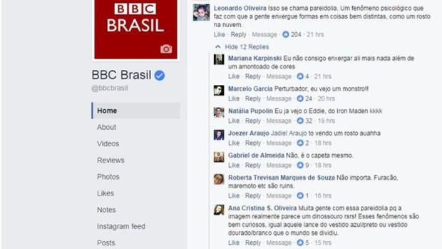 """Leonardo Oliveira e Ana Cristina S. Oliveira apontaram o fenômeno psicológico de """"ver coisas"""" distintas em imagens (Foto: Reprodução/BBC)"""