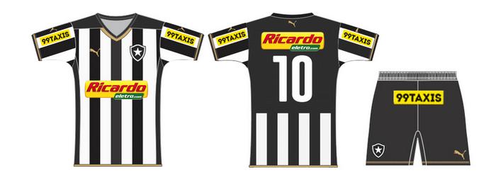 Novo patrocínio pontual do Botafogo para clássico contra o Vasco (Foto: Divulgação / Site do Botafogo)