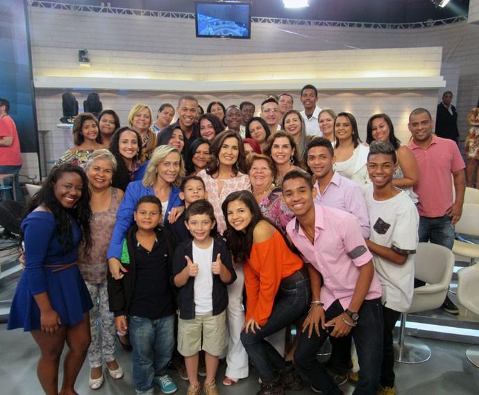 Mais plateia com a Fátima! (Foto: Viviane Figueiredo Neto/Gshow)