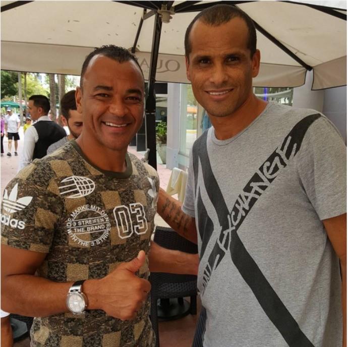 BLOG: Campeões do mundo, Cafu e Rivaldo celebram amizade nas ruas de Miami