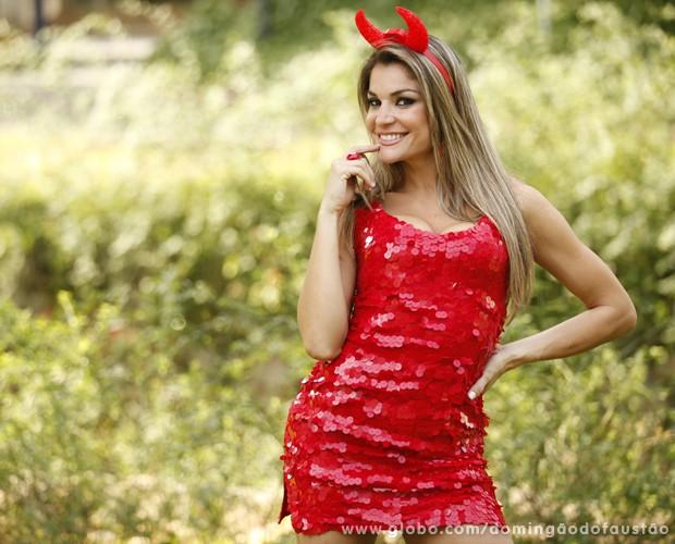 Letícia é uma das integrantes do Balé do Faustão (Foto: Domingão do Faustão / TV Globo)