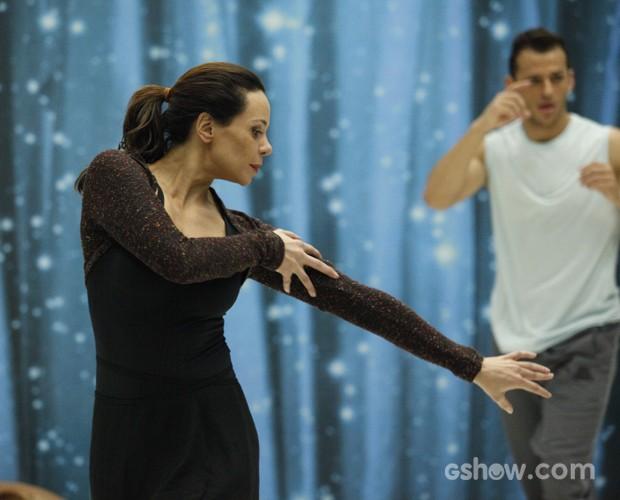 Medrosa? Vanessa Gerbellio encara com garra desafio do Dança dos Famosos (Foto: Raphael Dias/ TV Globo)
