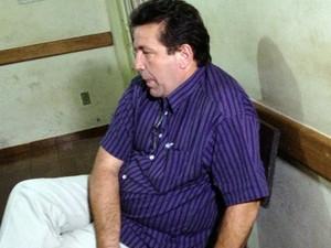 Pastor Roni Vieira foi detido suspeito de desviar  R$ 200 mil da Prefeitura (Foto: Vanessa Pires/G1)