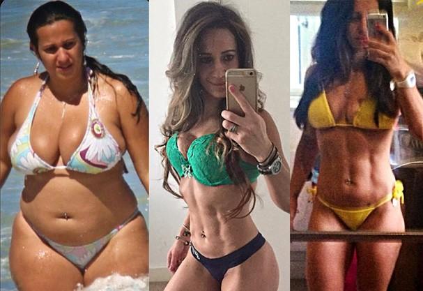 Antes e depois de Angela Crickmore (Foto: Reprodução)