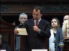 Carta com renúncia de Sérgio Cabral é lida em solenidade na Alerj