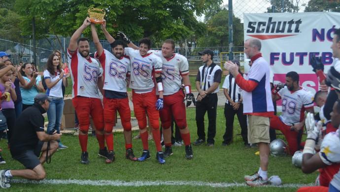 Mogi Desbravadores Super 8 futebol americano (Foto: Pedro Vieira)