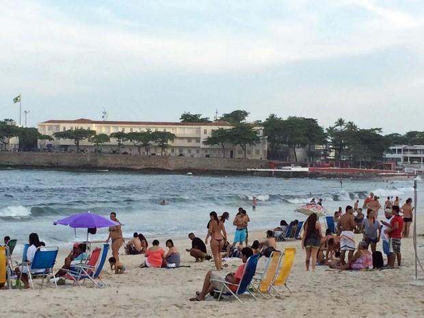 Fim de tarde em Copacabana (Foto: Patricia Teixeira/G1)