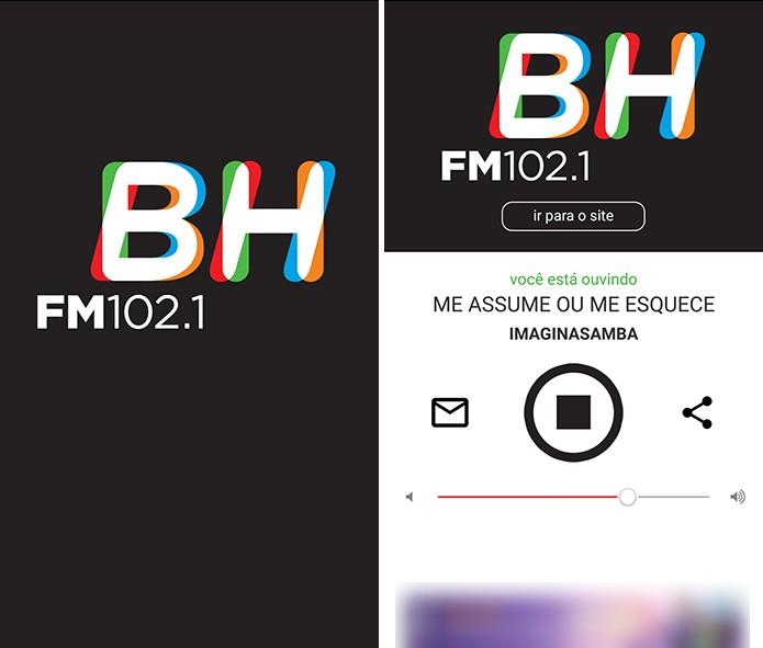 BH FM possui aplicativo para ouvir programação da rádio online (Foto: Reprodução/Elson de Souza)
