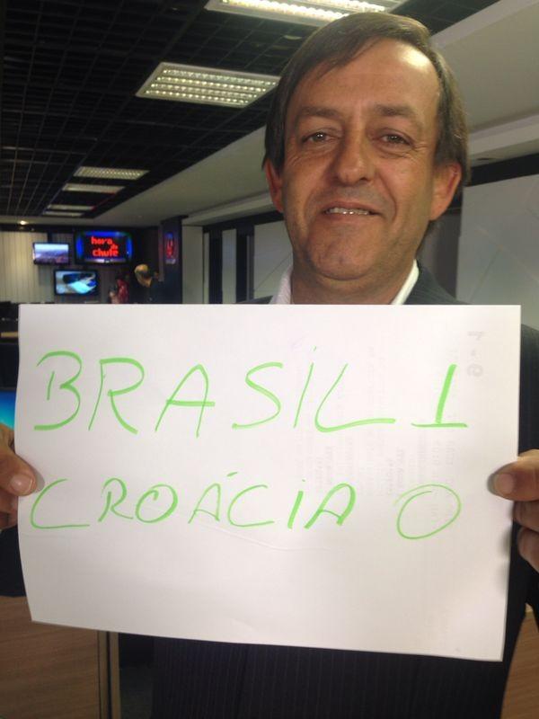 Cinegrafista sugeriu resultado de 1 x 0 para o Brasil (Foto: Divulgação)