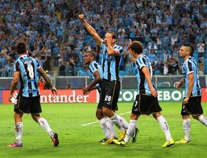 grêmio caracas arena libertadores gol barcos pirata (Foto: Lucas Uebel/Grêmio FBPA)