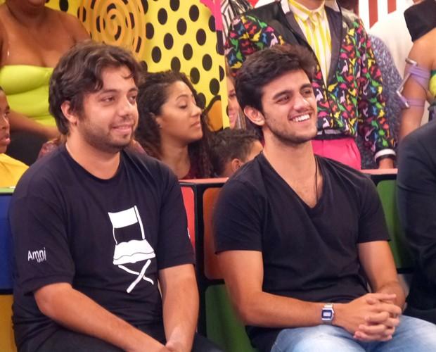 Felipe Simas e Paulo Eduardo (Foto: Tatiana Machado / Gshow)