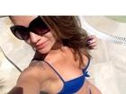 De biquíni, Kelly Key aproveita a sexta-feira: 'Dia de sol'