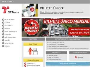 Cadastramento para o Bilhete Único Mensal será no site da SPTrans (Foto: Reprodução)