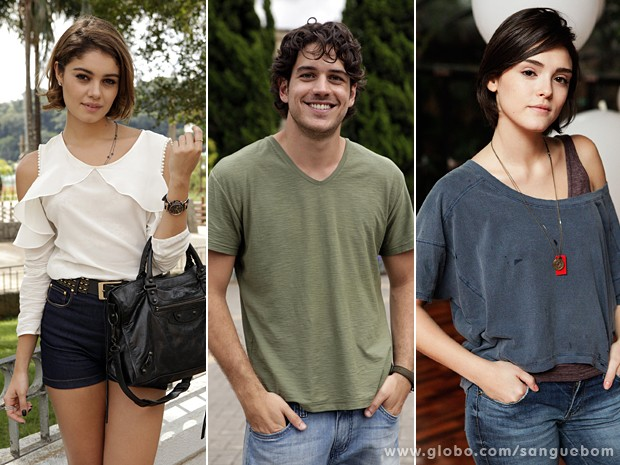 Sophie, Marco e Isabelle são três dos seis protagonistas de Sangue Bom (Foto: Sangue Bom/TV Globo)