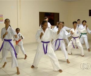 Caratecas de Palmas  (Foto: Reprodução/TV Anhanguera)