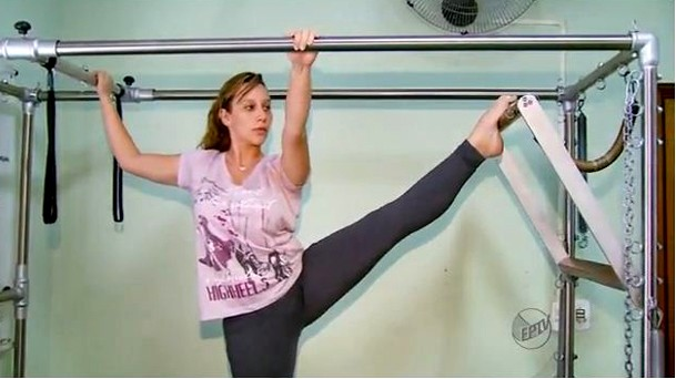 Pilates é ideal para quem não gosta de praticar atividades físicas (Foto: Reprodução EPTV)