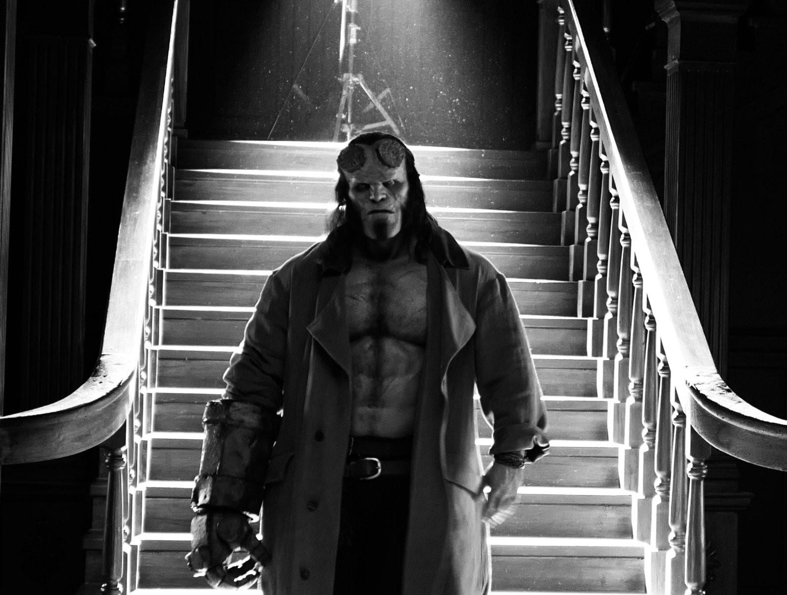 Mais uma imagem de Harbour como Hellboy (Foto: Divulgao)