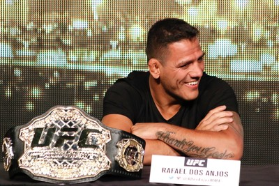 Rafael dos Anjos Coletiva UFC 200 (Foto: Evelyn Rodrigues)