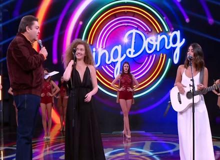 Duo Anavitória comemora primeira vez no 'Domingão do Faustão'