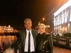 Otaviano Costa posta foto com Flávia Alessandra: 'Prontos pra night russa'
