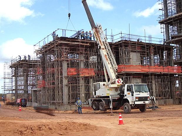 Obras do centro técnico da Alcantara Cyclone Space (ACS), no Maranhão (Foto: Divulgação / ACS)