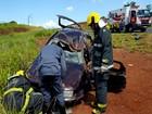 Capotamento em Anel Viário deixa três feridos em Uberlândia
