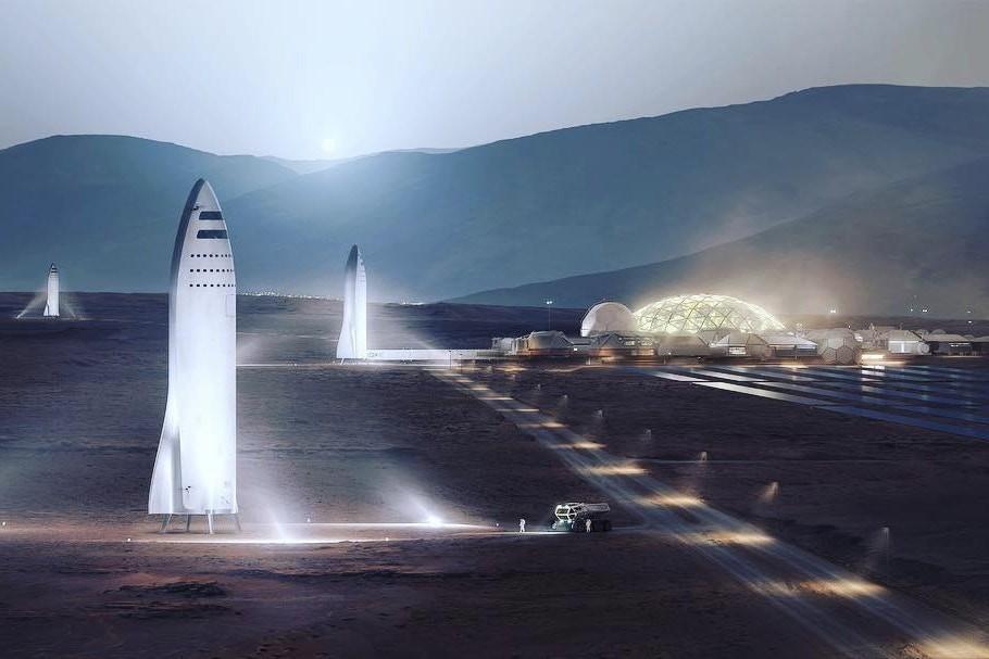 A cidade em Marte de Elon Musk (Foto: Divulgação)