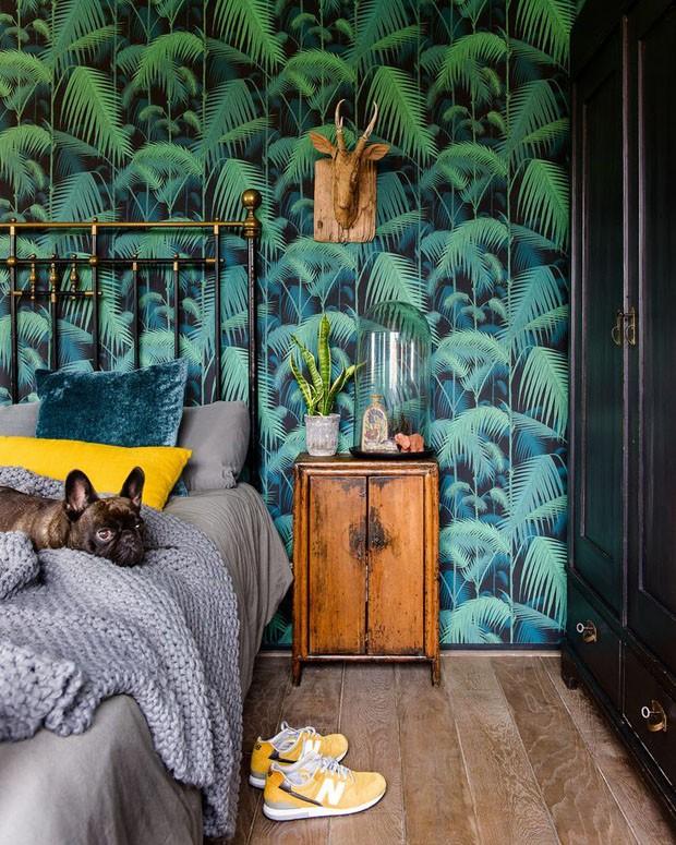 Décor do dia: quarto tropical e vintage