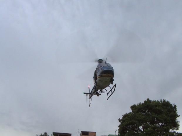 Helicóptero também é usado na ação (Foto: TV Integração/Reprodução)