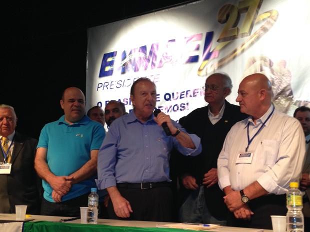 PSDC oficializa em convenção nacional a candidatura de Eymael à Presidência (Foto: Vanessa Fajardo / G1)