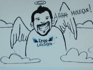 Desenho feito por amigos de Vinicius (Foto: Paulo Toledo Piza/G1)
