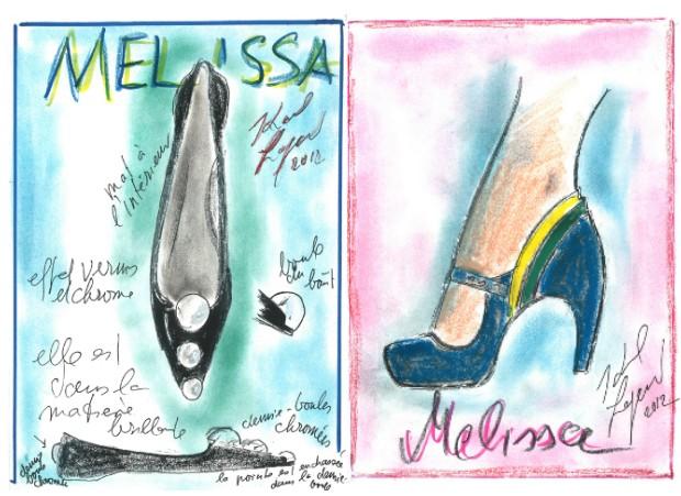 Croquis Melissa por Karl Lagerfeld (Foto: Divulgação )